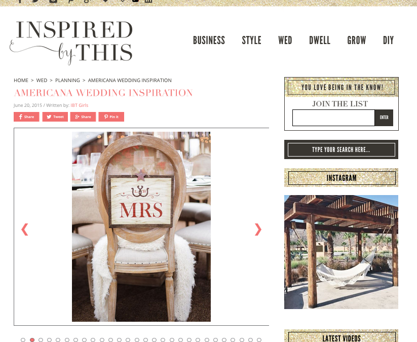 Featured on Inspired by This: Americana Inspiration