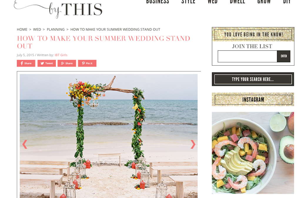 Featured on Inspired by This: Summer Wedding Ideas