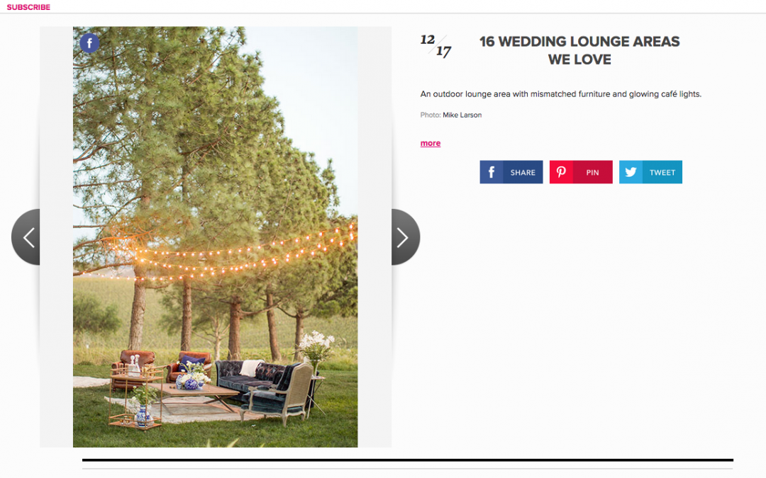 Featured on Brides Magazine: Wedding Lounge Ideas