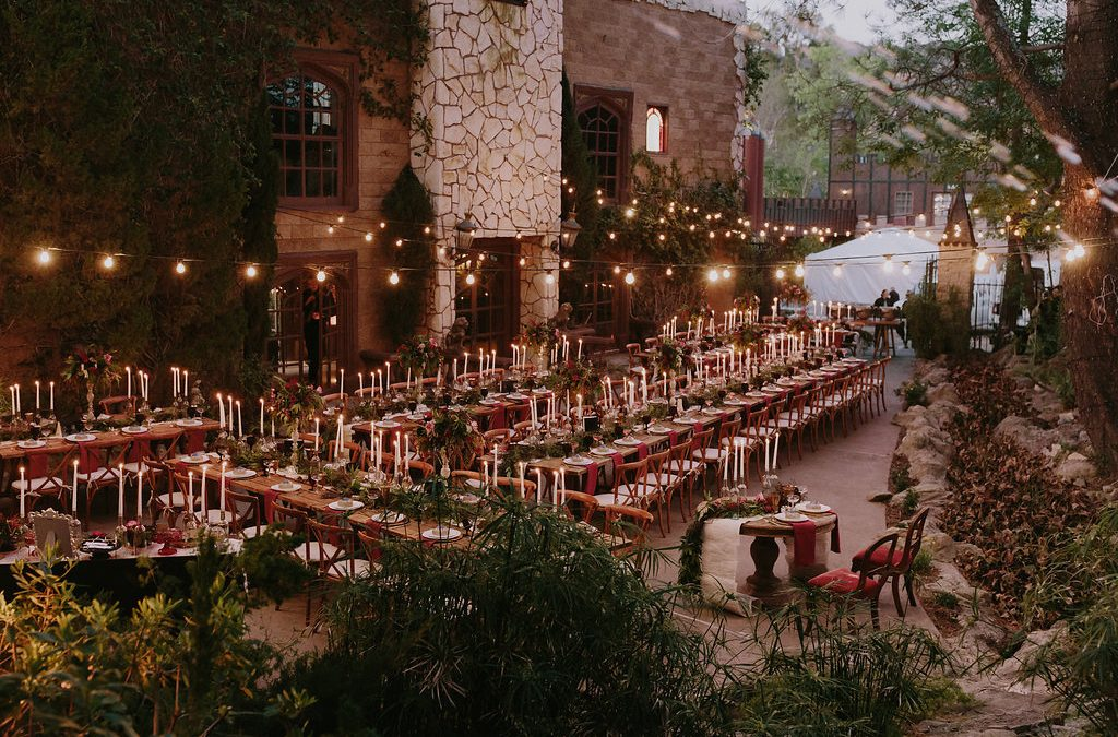 A Magical + Moody Harry Potter Wedding on Martha Stewart Weddings