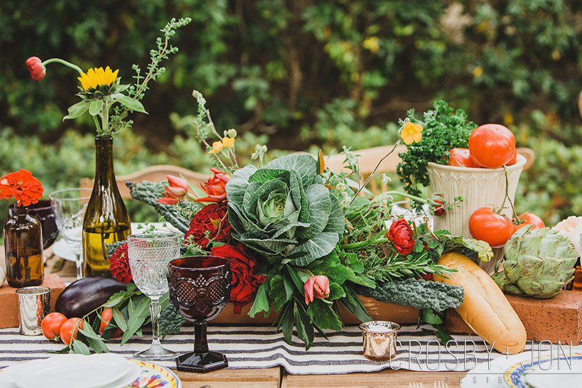 Featured on Brit + Co: Farm to Table Wedding Ideas