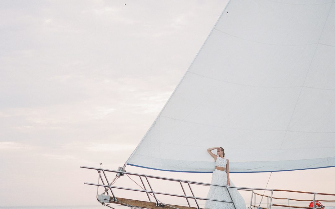 Sailboat Elopement Featured on Destination I Do
